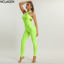 7acb2754b70 NCLAGEN 2018 New Women Autumn Sexy Slim Fitness Romper Overalls Workout  Yogaing Gyms Scrunch Booty Butt