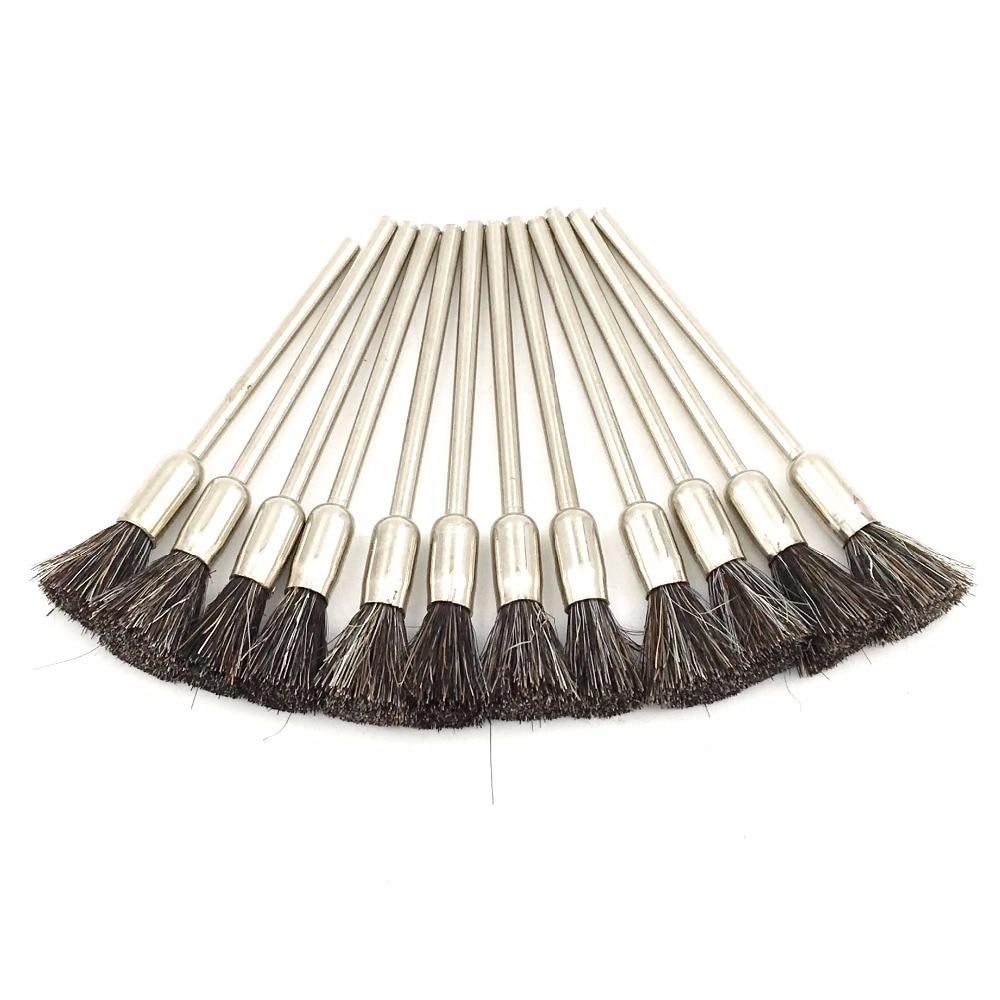 GOXAWEE 100 pz Spazzola abrasiva Setola Capra Spazzola per capelli - Utensili abrasivi - Fotografia 2