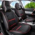 Las cubiertas del coche de Dodge Caliber cubierta de asiento de coche negro de LA PU fundas para asientos de cuero cojín del asiento de coche conjunto completo cubierta del asiento protector