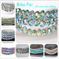 Free shipping multi color 2mm 198PCS Glass Czech crystal beads, wheel beads,transit beads,bracelet necklace Jewelry Making DIY