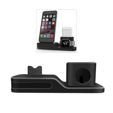 3 in 1 Charging Dock Holder For Iphone X 8 7 6 Silicone charging stand Station Apple watch Airpods