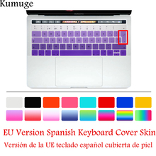 TPU Silicone EU Spanish Keyboard Cover Skin for 2016 New MacBook Pro 13 15 with Touch Bar A1706 A1707 Keyboard Protector Film недорого