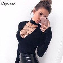 long sleeve V-neck deep cut bodysuit
