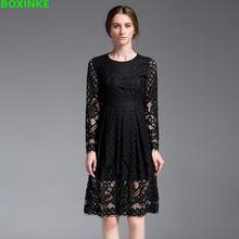 Real Vadim Zanzea Fertilizer Plus Taiqiu New Large Size Women Summer European Style High-end Fashion Lace Dress 200 Pounds
