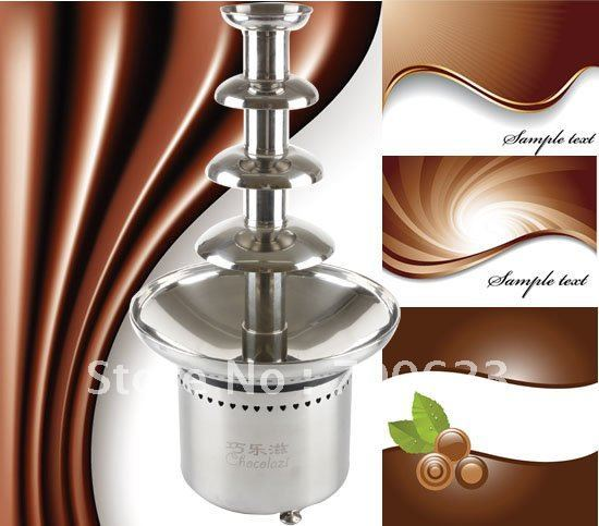 "New 304 Stainless Steel 23.5"" 60cm Commercial Chocolate fountains,1 year guarantee (Free shipping)"