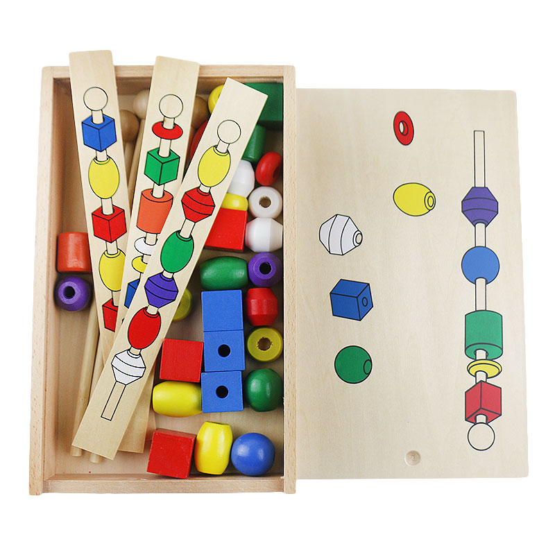 Audacious Montessori Educational Wooden Toys Bead Sequencing Set Montessori Toys Educational Games Montessori Materials Preschool Uc0566h A Plastic Case Is Compartmentalized For Safe Storage Home
