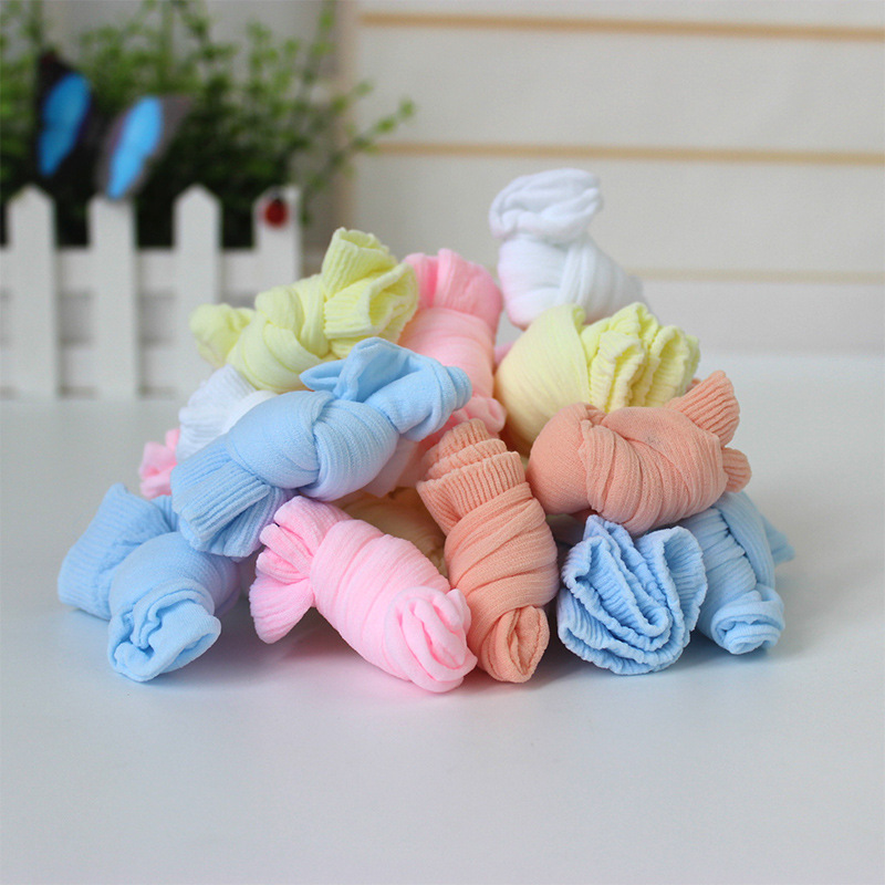 20 Pairs/Lot Girls Socks for Children Kids Mesh Style Baby Girl Socks with Elastic Candy Colors Summer Wholesale 3