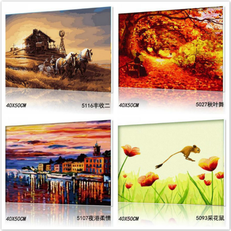 Digital OIL Painting FOR NEW Beginner SPEED ART DIY HOME Decor Frameless WALL PICTURE GIFTS rcd330 plus mib ui radio for golf 5 6 jetta cc tiguan passat polo