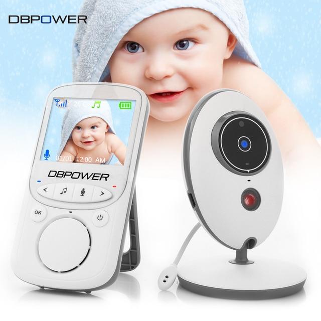 DBPOWER Wireless LCD Audio Video Baby Monitor VB605 Portable Radio Intercom Baby Camera Nanny IR Baby Walkie Talkie Babysitter