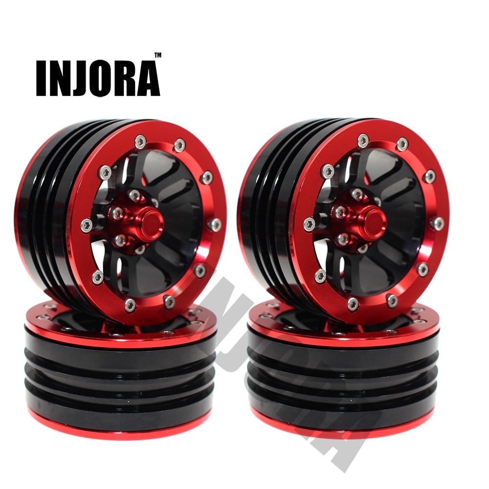 4PCS Metal Alloy 1 9 Inch Beadlock Wheel Rim Wheel Hub for 1 10 RC Crawler