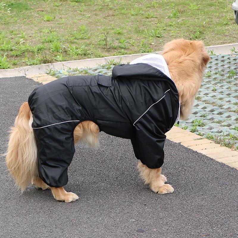 Outdoor Large Dog Raincoat Waterproof big Dog Clothes Coat Rain Jacket Reflective Medium Large big dog poncho Breathable mesh
