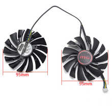 NEW 95mm PLD10010S12HH 4PIN Cooler fan For MSI GTX 960 GTX 970 GAMING GTX 950 GTX 1060 RX 470 GAMING X Graphic Card Fan