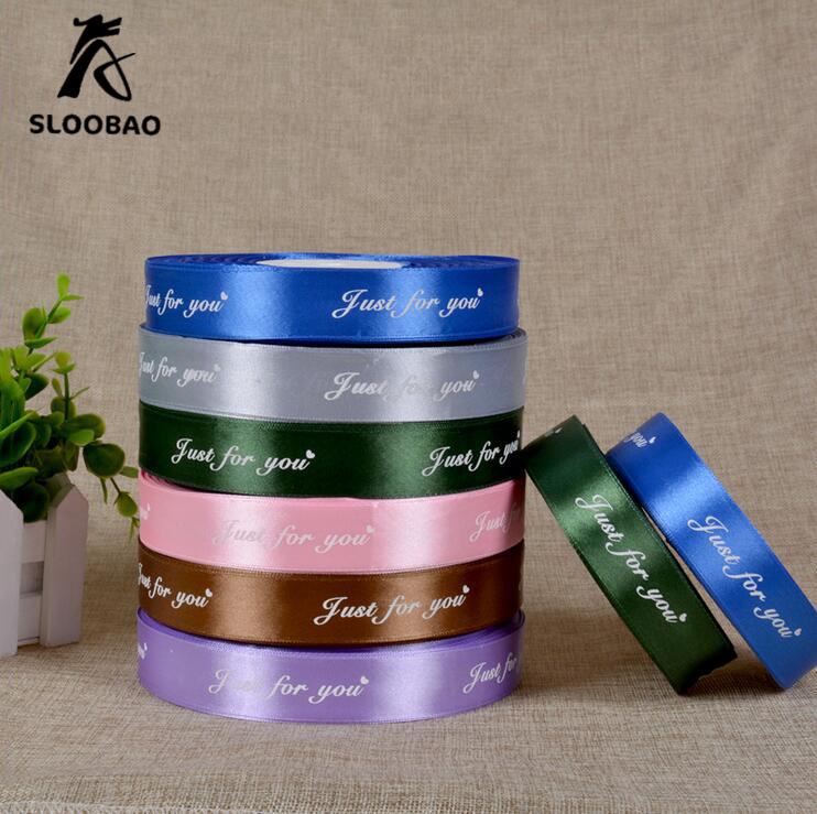 1.3cm Width Custom Logo DIY Print Single Satin Ribbon Weddind & Personalized Polyester Ribbon GIFT PACKING 100yards/Per Roll