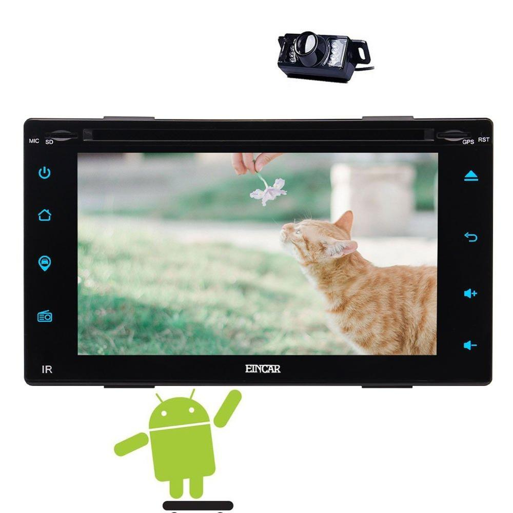 FREE Rear Camera+Anroid 6.0 Car dvd Deck Auto Car DVD Radio Head Unit Double Din Auto GPS Media HD 1080P PlayerWifi Mirrorlink ...