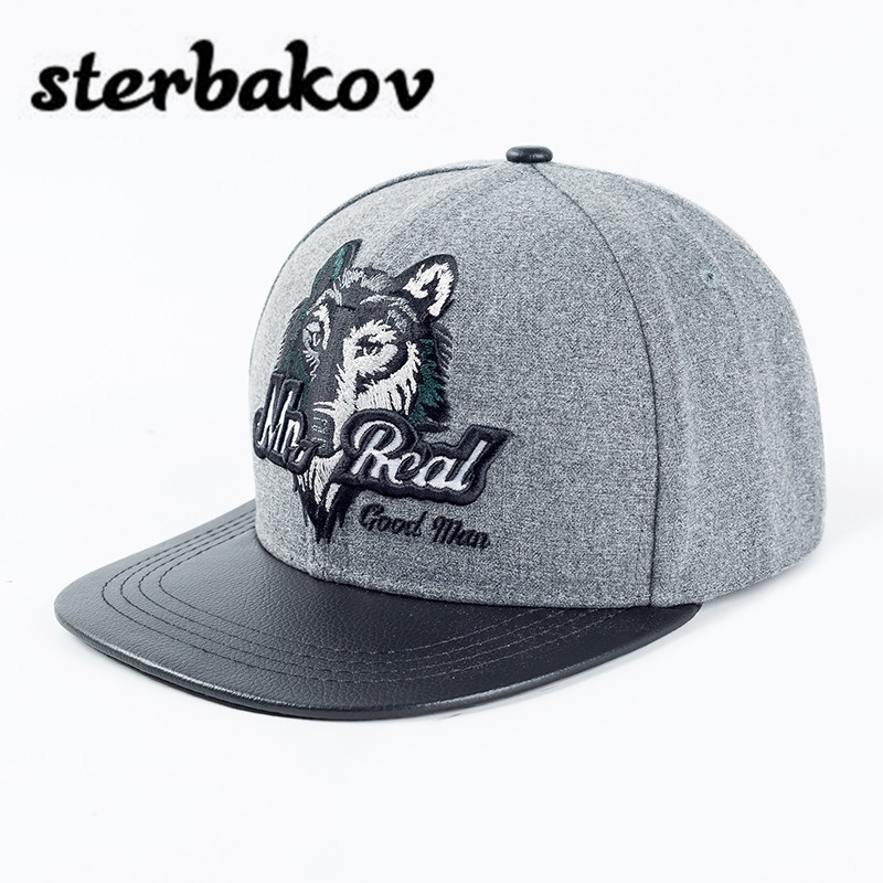 Fashion-brand beautiful animal/wolf head hat! Men's/ ladies' baseball cap/ leisure hats/ hip-hop hat/ teenager hat! skullies hot sale candy colored knit cap sleeve head cap hip hop tide baotou cap 1866717