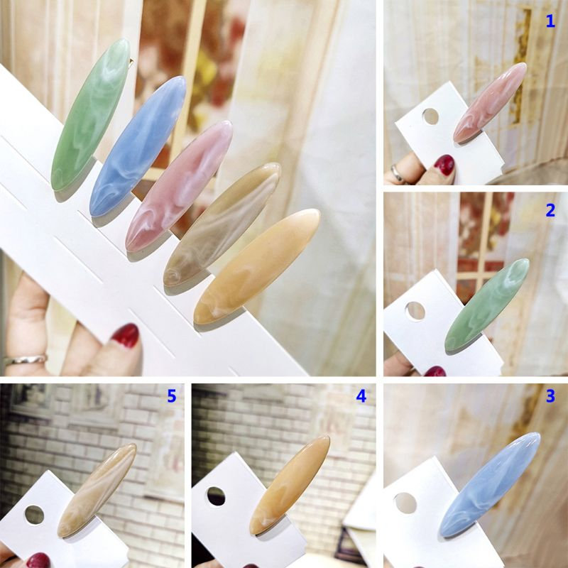 Acetate Hairpin Acrylic Water Drop Geometry Duckbill Clip Girl Lady Hair Accessories Women Hairpin Headdress(China)