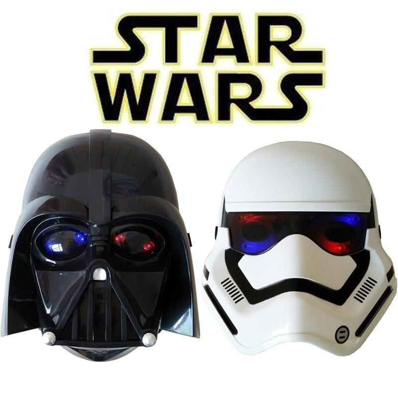 Anakin Skywalker Star wars Weapons StormTrooper white helmet black gleamy warrior soldiers lightsaber Darth Vader LED mask