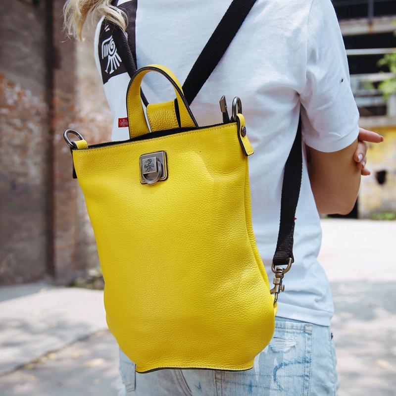 Mochila De moda Sunbird para mujer bolso de escuela de cuero genuino de mayor capacidad Casual Bagback de lujo de diseñador de la ciudad para chica-in Mochilas from Maletas y bolsas    1