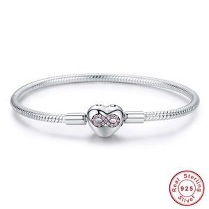 Image 5 - Браслет из серебра 925 пробы, браслет из серебра 925 пробы с подвеской в виде кошачьего сердца, браслет для изготовления ювелирных украшений