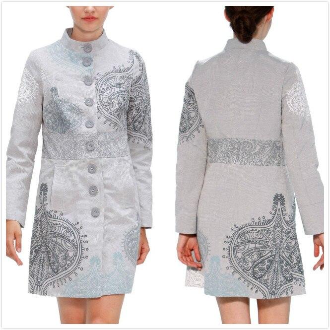 2019 สีดำและสีขาวปัก trench coat สำหรับนางสาว desigu เสื้อในสเปน 36 46-ใน ขนสัตว์และขนสัตว์ผสม จาก เสื้อผ้าสตรี บน   3