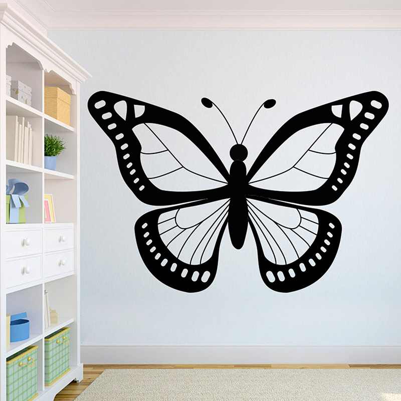 Butterfly Beautiful Wolves Wall Decal African Wild Lion Pride Animals Home Interior Design Murals Home Decoration A3 007 in Wall Stickers from Home Garden