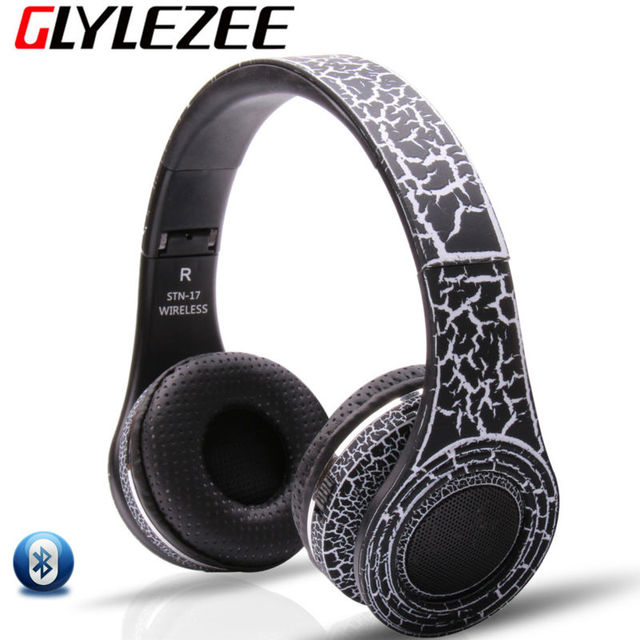 Crack Wireless Bluetooth Headphone Amplifier Noise Cancelling Stereo Gaming Music Headset Support TF Card FM for PC Moible Phone