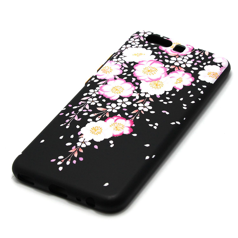 3D Relief flower silicone  case huawei p10 (31)
