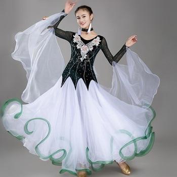 blue standard dance dresses ballroom waltz dresses women ballroom dress dancewear modern dance costumes rumba tango costumes