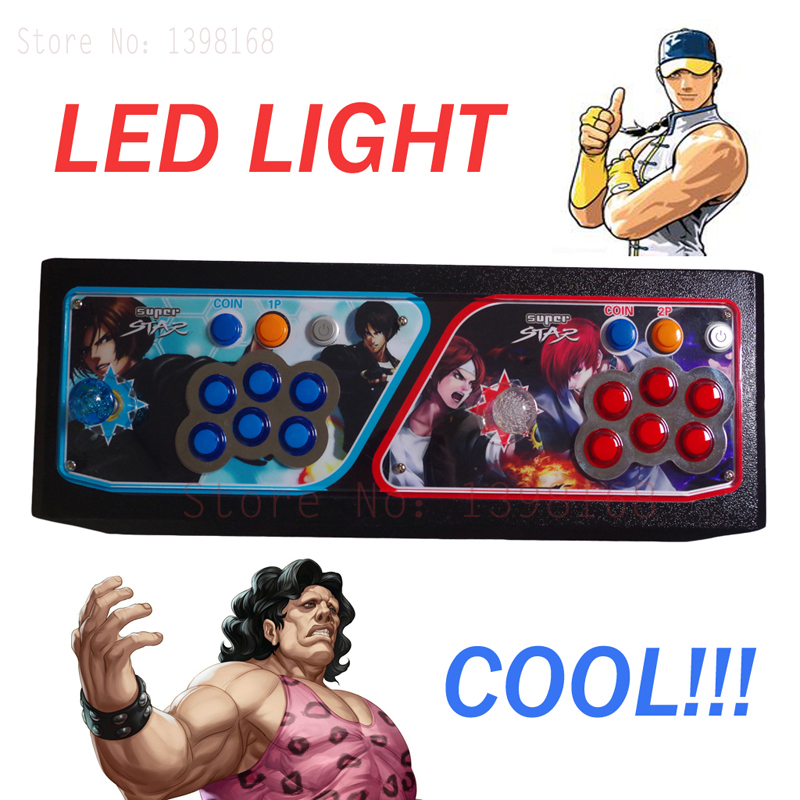 LED lights TV/Video Game console Joystick  with jamma multi games P box 4 /645 in 1 game pcb board controller sanwa button and joystick use in video game console with multi games 520 in 1