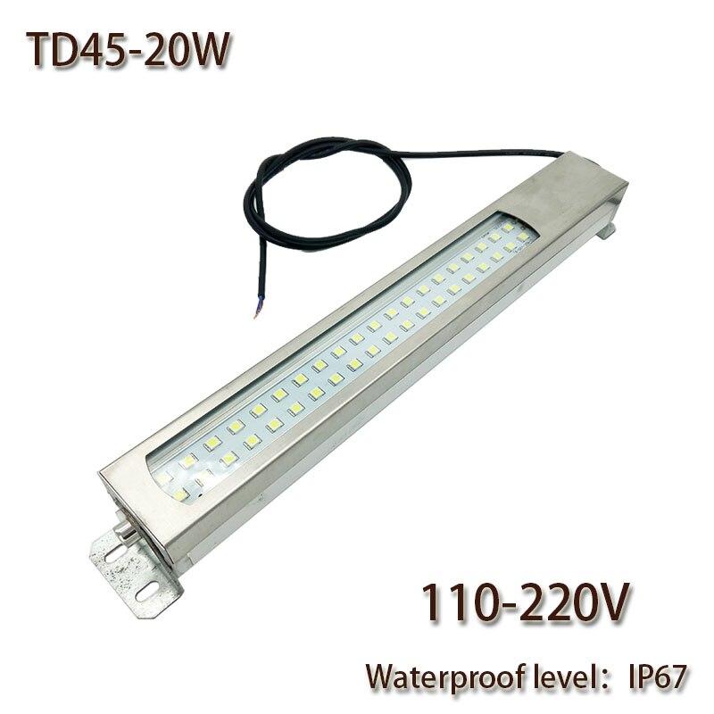 HNTD 20W Led Panel Light 110V/220V AC LED Metal work light CNC machine work tool lighting TD45 Waterproof IP67