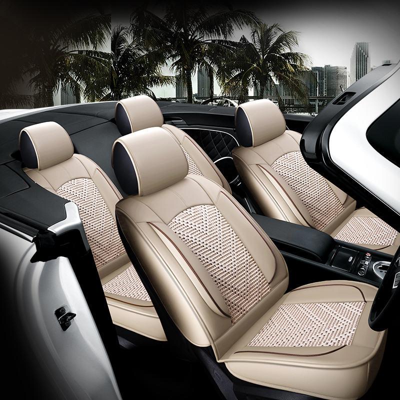 Nouvelle housse de siège de voiture, coussin de siège universel, soie de glace en cuir Senior, coussin de voiture, style de voiture de Sport, style de voiture pour berline SUV - 6