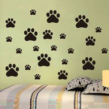 22Pcs/set Removable Lovely Cat Dog Paw Wall Vinyl Decal Stickers Ideal for Home Cars Fridges Stickers