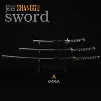 3 Exquisite Bamboo Carbon Samurai Sword Martial Arts Black Scabbard Movie Props RPG Supplies Real Sword Katana Souvenir