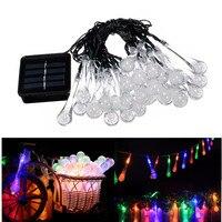 30 led solar Christmas lights waterproof water droplets fairy string garden wedding decoration