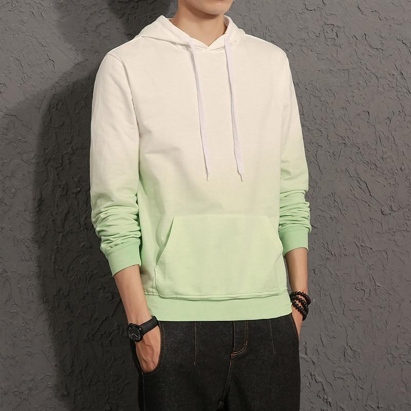 New Men Hoodies Sweatshirts Gradient Design Long Sleeve Hoody Men Pullover Tracksuit Streetwear Size 5XL CD50