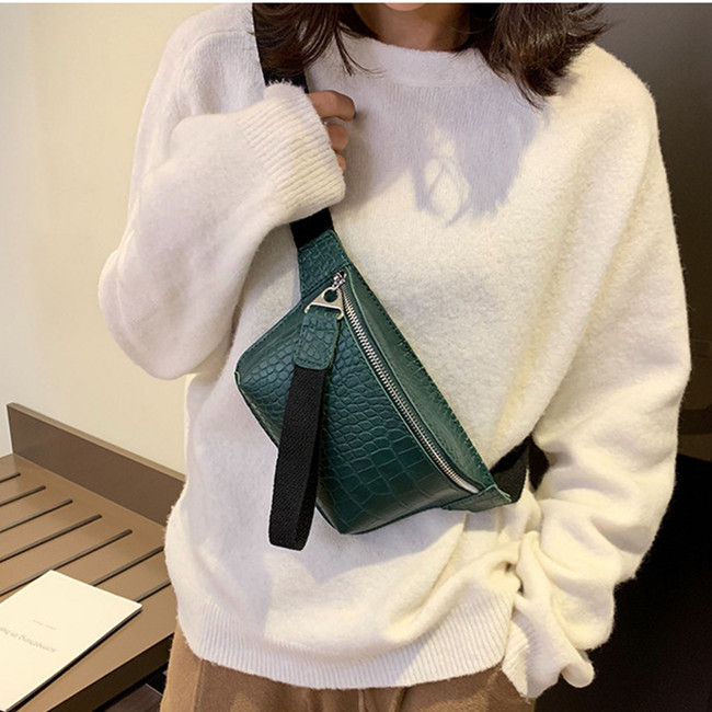 Women Waist Packs Fashion Crochet Fanny Pack For Female PU Leather Bum Belt Bag Small Messenger Bags 2019 New Waist Mini Purse