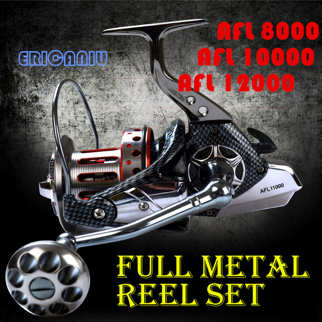 Hot Sale 10+1BB 4.7:1 12000 Series Full Metal Spinning Fishing Reel Left/Right Spinning Reel For Sea Fishing kastking kodiak 2016 hot sale 2000 5000 series aluminum spool superior ratio 5 2 1 spinning fishing reel spinning reel