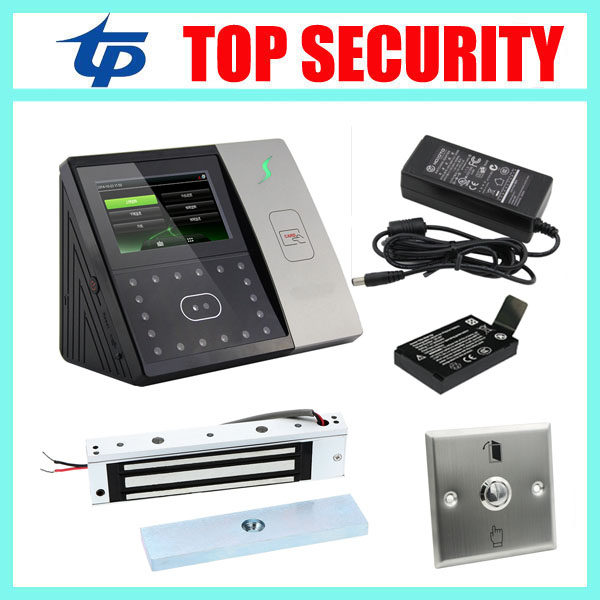 ZK biometric face recognition time attendance and access control with back up battery standalone face access controller reader tcp ip biometric face recognition door access control system with fingerprint reader and back up battery door access controller