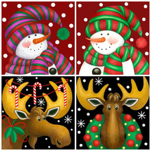 MomoArt DIY Diamond Painting Christmas Embroidery Full Square Rhinestone Mosaic Snowman Home Decor