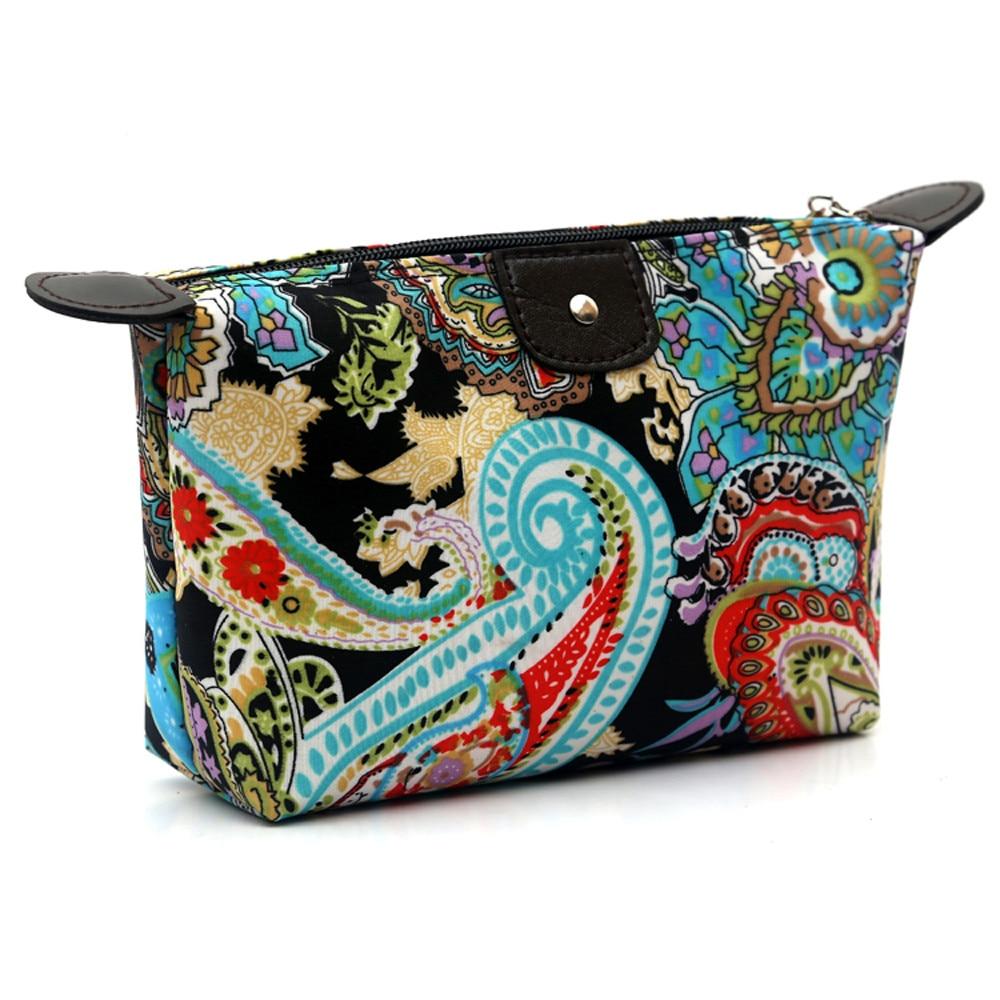 1PC Women Travel Make Up Cosmetic Pouch Bag Clutch Handbag Casual Purse