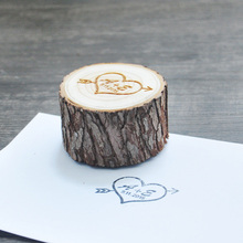 Customize Stamp with Initials&date Personalized Wooden Pole