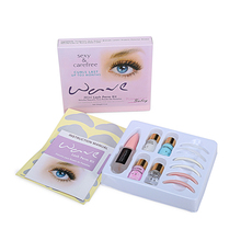 1 Set Mini Lash Perm Kit Curling  Eyelash Wave Lotion Last up to 3 Months Free Shipping makeup eyelash perm lotion eyelash perm permanent makeup eyelash curling perm tool kit eyelash wave lotion last up to 3 months
