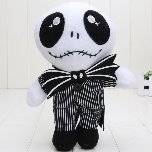 The Nightmare Before Christmas Jack Skellington Sally Hitam Skeleton Skull  Mainan Mewah stuffed boneka Halloween Hadiah f234e0c538