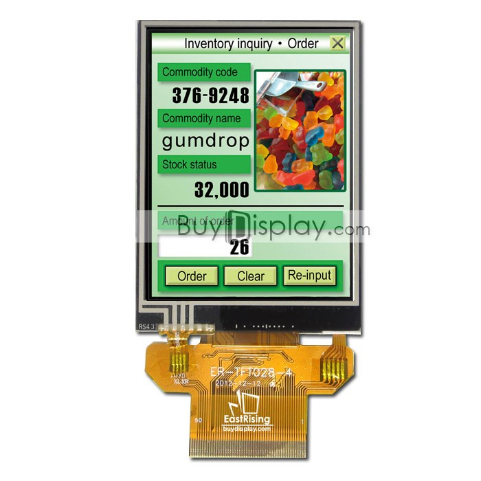 """3.5/"""" TFT LCD Display w//Capacitive Touch Panel Screen,Breakout Board,Tutorial"""