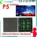 Горячий продукт rgb p5 светодиодный модуль открытый smd 160 мм * 160 мм 32*32 высокой яркость открытый светодиодная вывеска модуль p5 p6 p8 p10 полноцветный