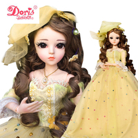 24 inch Full Set + Makeup Bella 1/3 24 60cm Doris BJD Doll ball jointed dolls SD Doll Action Figure Beast Girlfriend Toy