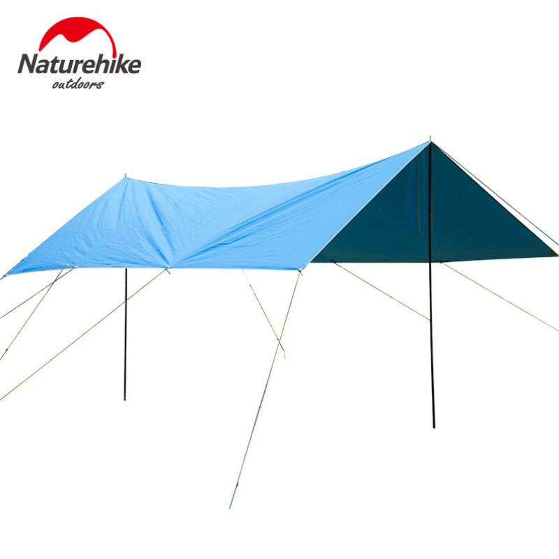 Naturehike ultralight tarp park pergola beach sunshade tent 4*3*2M camping tarp waterproof Outdoor leisure Canopy Awning NH high quality outdoor 2 person camping tent double layer aluminum rod ultralight tent with snow skirt oneroad windsnow 2 plus