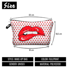 Makeup Bags With Multicolor Pattern Cute Cosmetics Pouchs