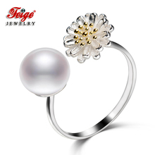 FEIGE New Design 8-9mm White Freshwater Pearl Ring Real 925 Sterling Silver Rings for Women Fine Jewelry Trendy style Anillo рюкзак мужской quiksilver primitivpkble m eqybp03536 kzm0 мышино серый