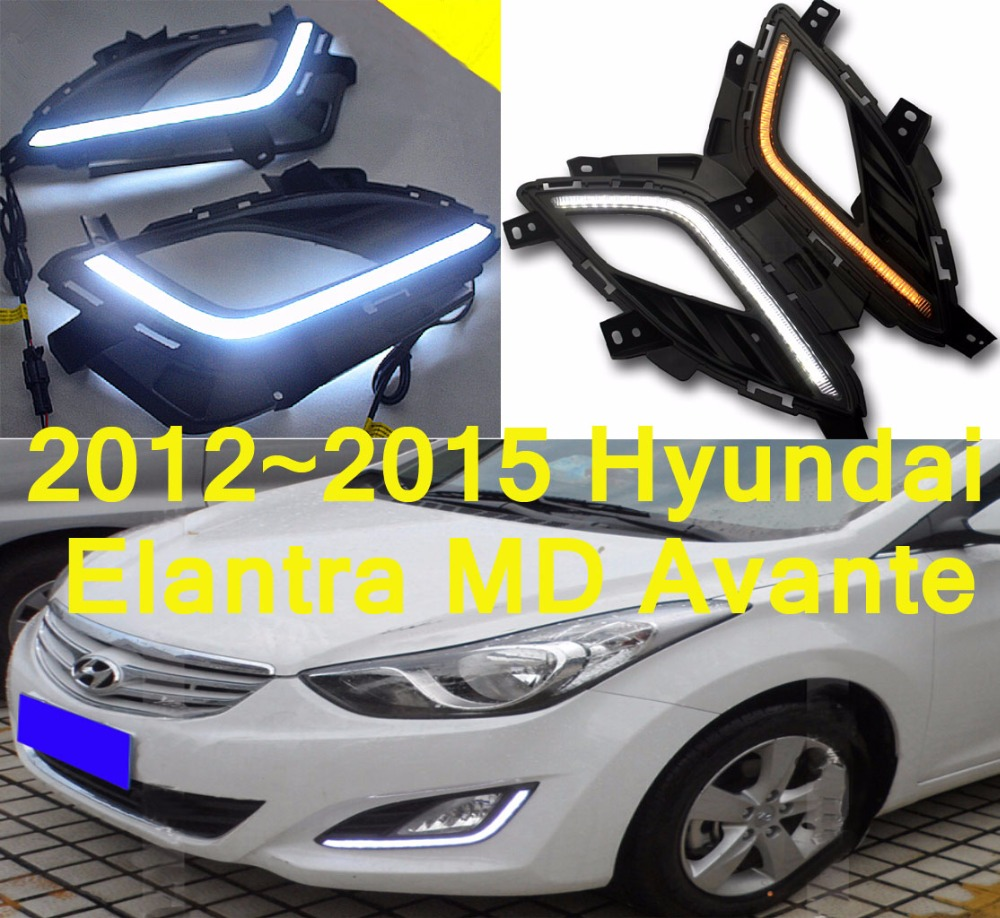 Car-styling,Elantra daytime light,MD Avante;2012~2015,chrome,LED,Free ship!2pcs,car-detector,Elantra fog light,car-covers,MD hyundai avante md напрямую из кореи